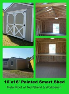 10x16 Painted Smart Shed